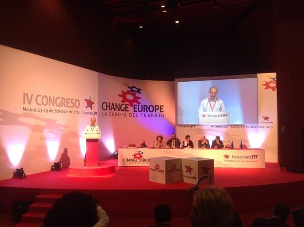 Pedro Noel Carillo, del Partido Comunista de Cuba en el IV Congreso @europeanleft #ELChangeEurope http://t.co/pWnX6EFnO2