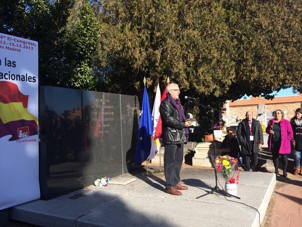 Homenaje a brigadistas internacionales del @europeanleft #ELChangeEurope @iunida @cayo_lara http://t.co/CDpDAOo4LQ