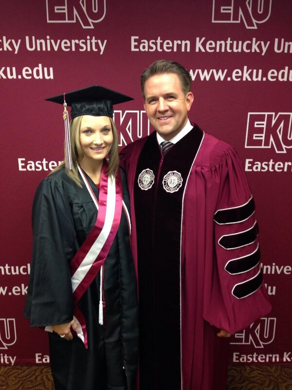 With our EKU student speaker, Jamie Stout. Congratulations! http://t.co/e0yKBSo5wR