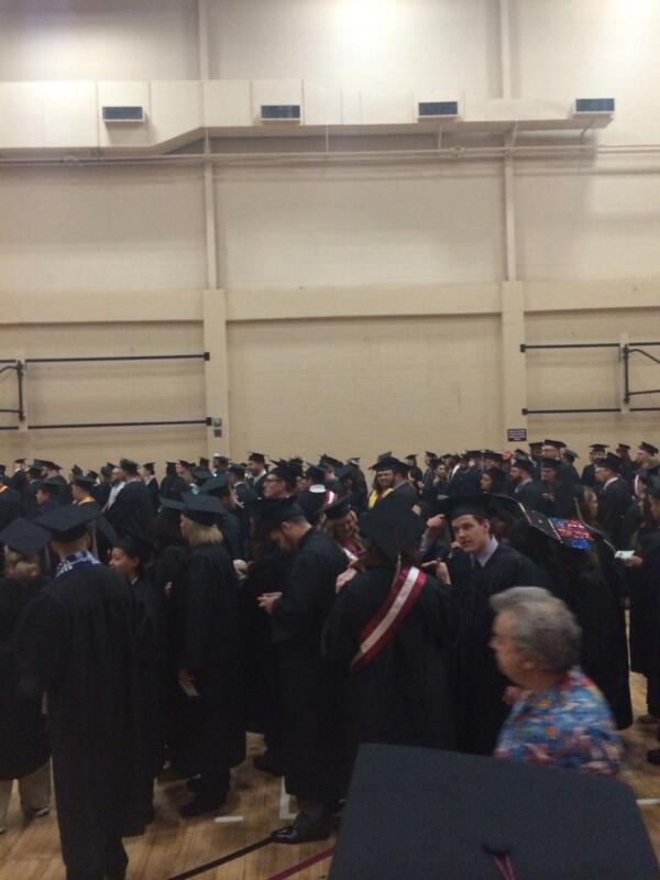 Some anxious Colonels awaiting graduation! #EKUGrad http://t.co/DBYfQvhCVn