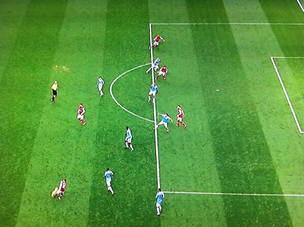 Arsenal had four offside decisions go against them at Manchester City [Pictures]