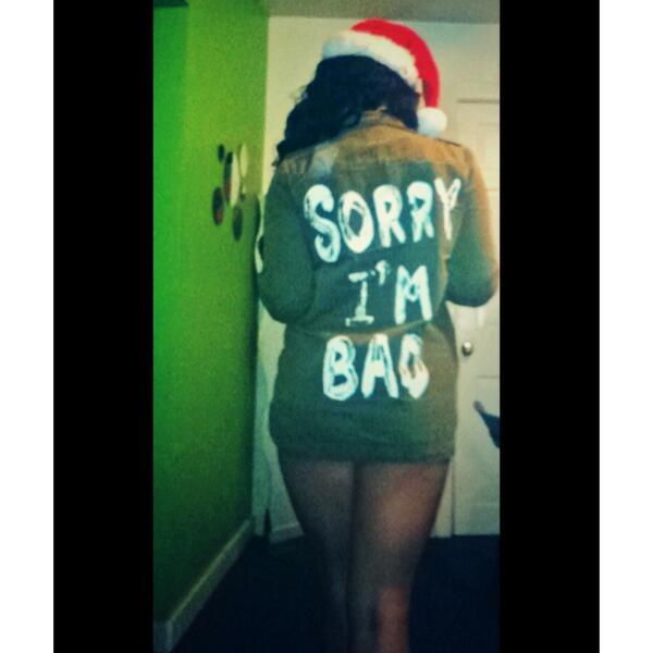 """@Missheadhoncho: Santa's bad helper #SorryImBad  <br>http://pic.twitter.com/NkxuI8e00n"" this shit fly. #dopeshit"