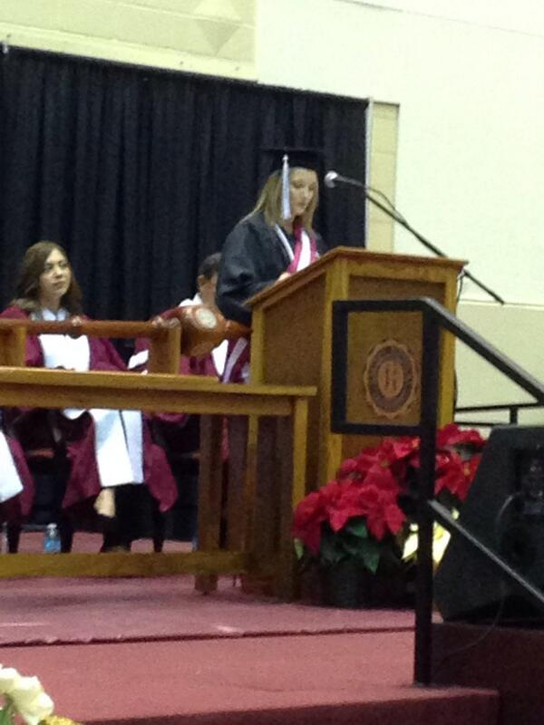 Jami Stout presents address on behalf of Graduating Class 2013 @easternprogress @EKUPrez #EKUGrad http://t.co/TbUNXiYUR1