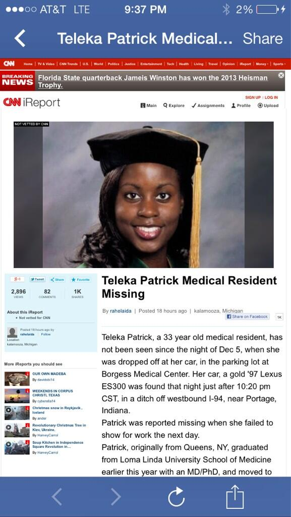 Missing student in Michigan. Was ask to Post. Trying to help http://t.co/zcH7Hq8p4a