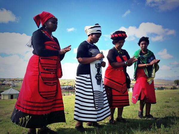 Singing for #Madiba outside his home #Road2Qunu @eNCAnews http://t.co/ZdXfFJs6kT