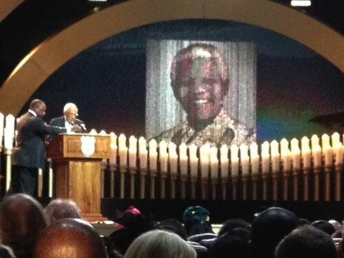 Struggle veteran and close friend of Nelson Mandela, Ahmed Kathrada, delivers a moving tribute to his comrade. http://t.co/pxRBkuGpFD