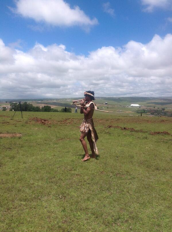 Traditional Xhosa send off in Qunu #MandelaFuneral http://t.co/AkmMB1W7LD