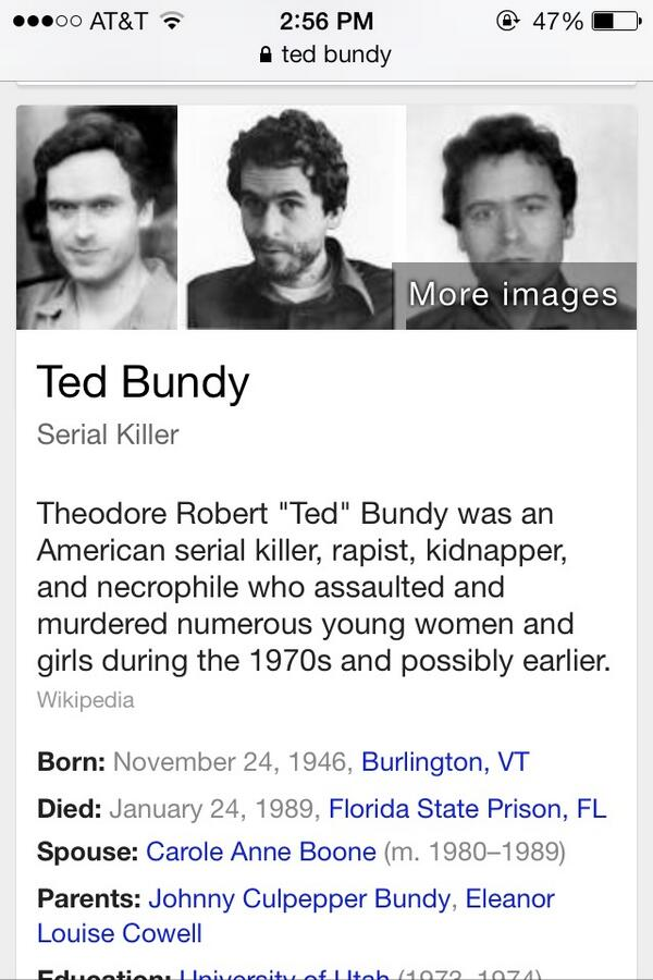 Ted Bundy (@CrazedTed) | Twitter