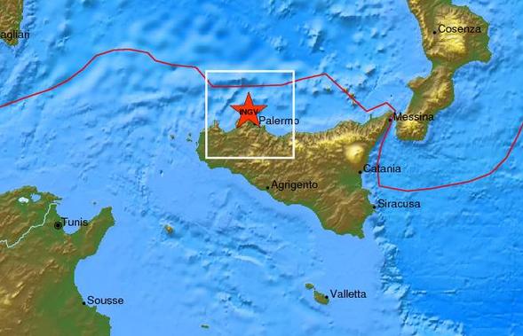 Scossa di terremoto di magnitudo 2.9 di fronte a Isola delle Femmine