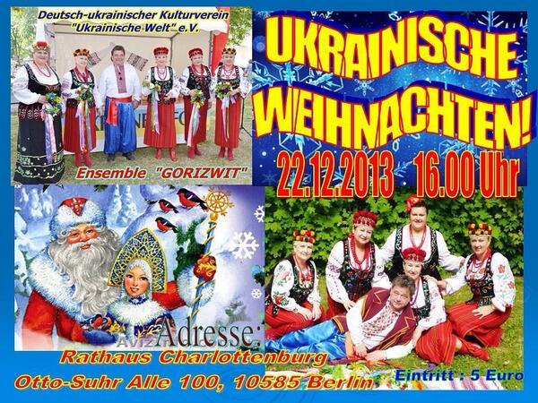 Frohe Weihnachten Ukrainisch.Olga Raab Ukrainka2013 Twitter