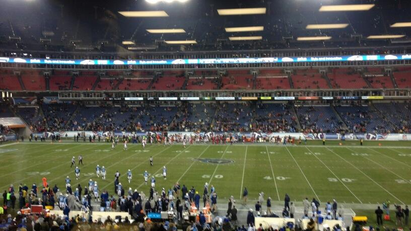 Twitter / DavidClimer: Pretty sparse crowd at LP Field ...