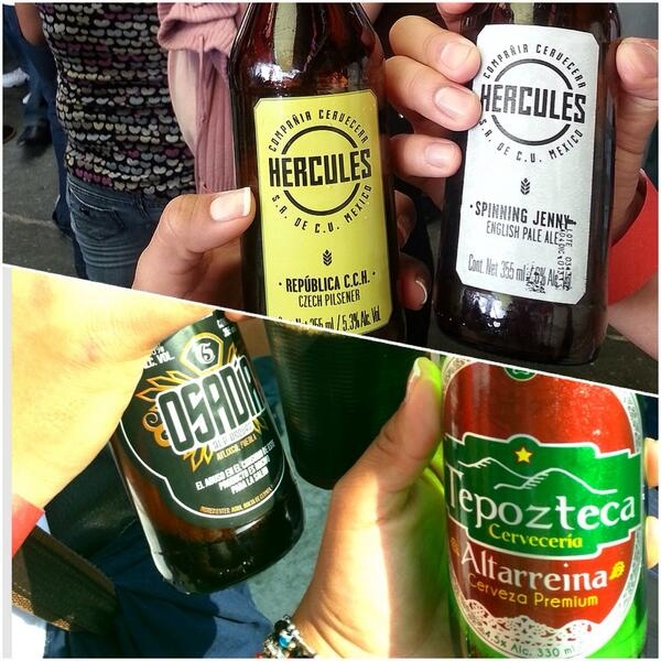 @BeerFestDF todo un éxito !! Excelentes chelas 😀 @CCHercules @CervezaOsadia @Tepozteca_Beer http://t.co/FGPREfRPv2