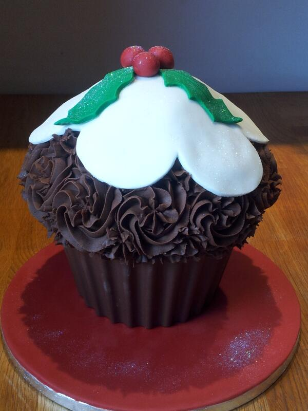 #Christmas Pudding #chocolate Giant #cupcake
