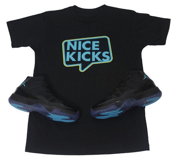 We're giving away a pair of 'Gamma Blue' Air Jordan 11s + matching Nice Kicks T-shirt. RT & follow to enter giveaway!