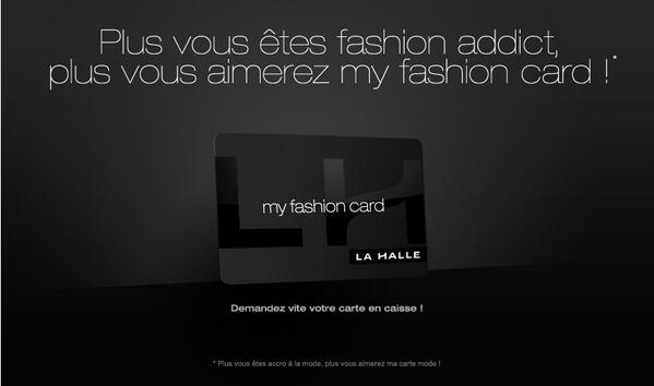 carte fidélité la halle La Halle on Twitter: