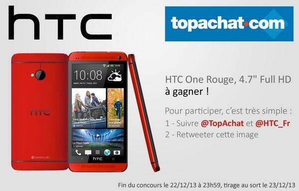 Il n'est pas trop tard pour participer au concours @TopAchat et gagner un #HTCOne ! Toutes les infos dans l'image. http://t.co/QIDk7XNESM