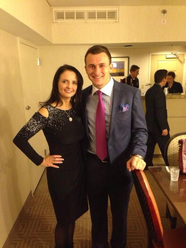 Johnny Football hitting on AJ McCarron's mom. #TFM http://t.co/AQ3CSm2Y6s