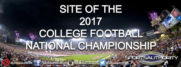 Thumbnail for Tampa Bay Selected To Host 2017 College Football National Championship!