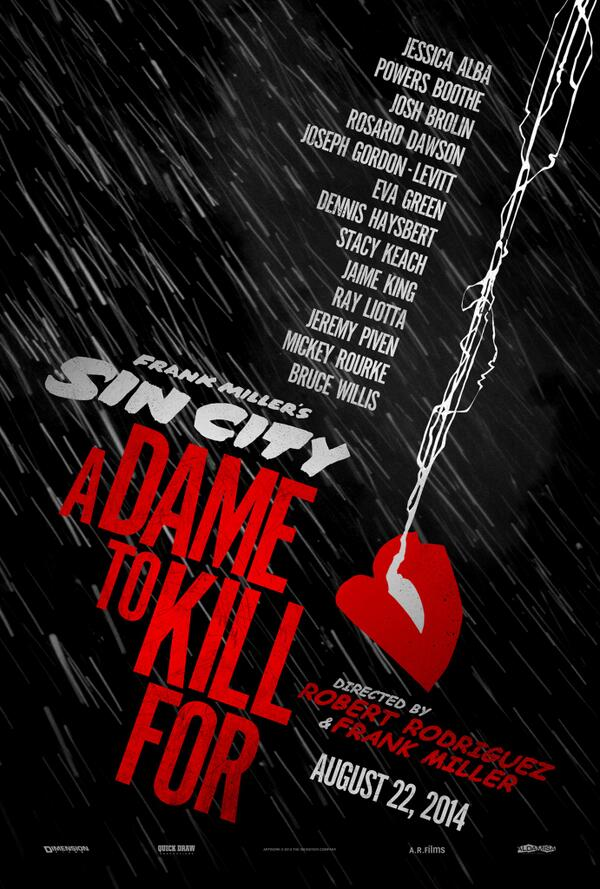 Check out the new teaser poster for #SinCity: A Dame to Kill For, coming in 2014. RT if you're ready for a trip back! http://t.co/JUoDEnZ4FQ