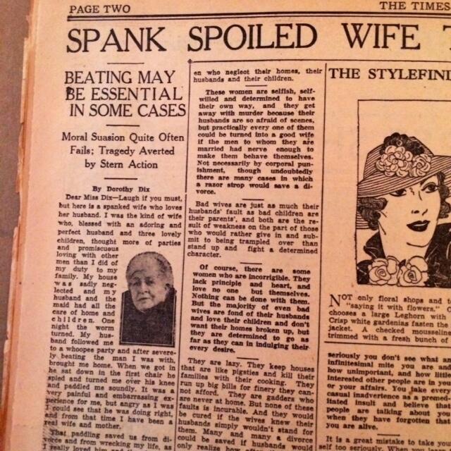 Spank wife advice