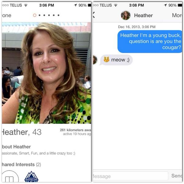 Tinder for milfs ad