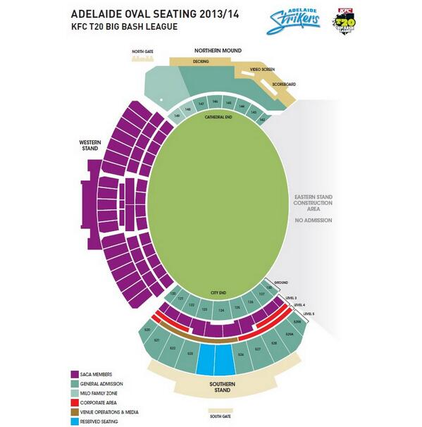 Adelaide Oval Seating Map Adelaide Strikers on Twitter: