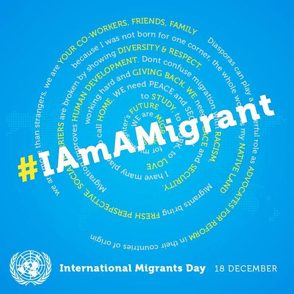 Share photos and videos tied to your personal stories about positive images of migrant workers by using #iamamigrant http://t.co/C3LVmT55Kj