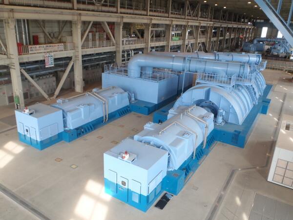 【常陸那珂火力発電所】今週営業運転開始を予定している常陸那珂火力2号機。その発電効率は世界最高水準の45.2%です。タービンには41インチの大型の翼を採用しています。