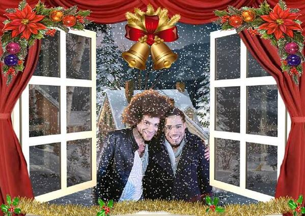 Thanks to @BetsyKavanagh for her Christmas photo of @JamieAFRO and @DanylAJohnson http://t.co/Fxr2PS1H0D