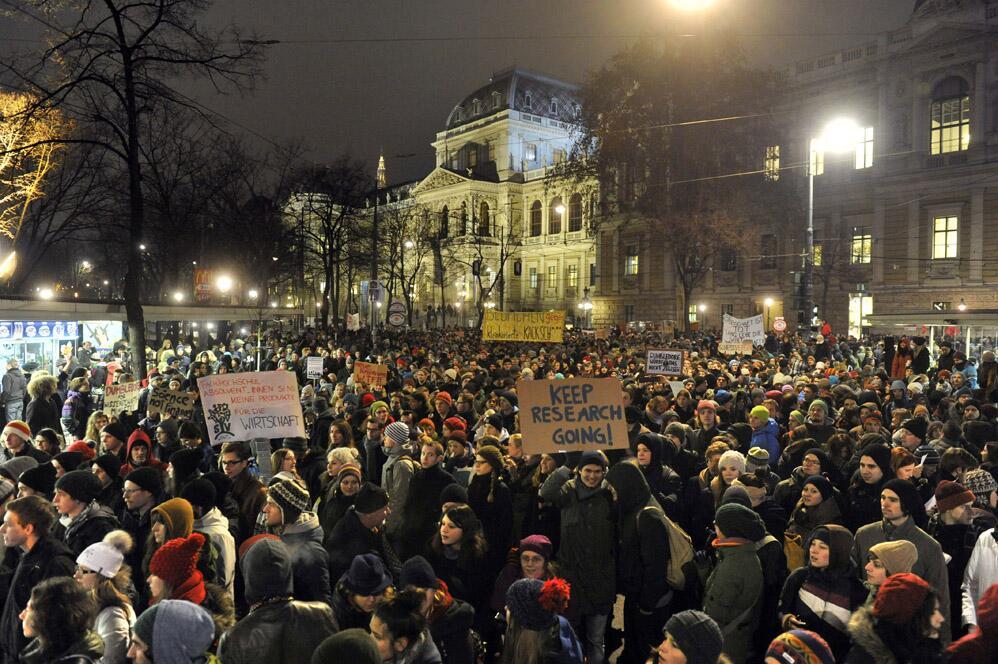 Bild über die Demo vom 17.12.