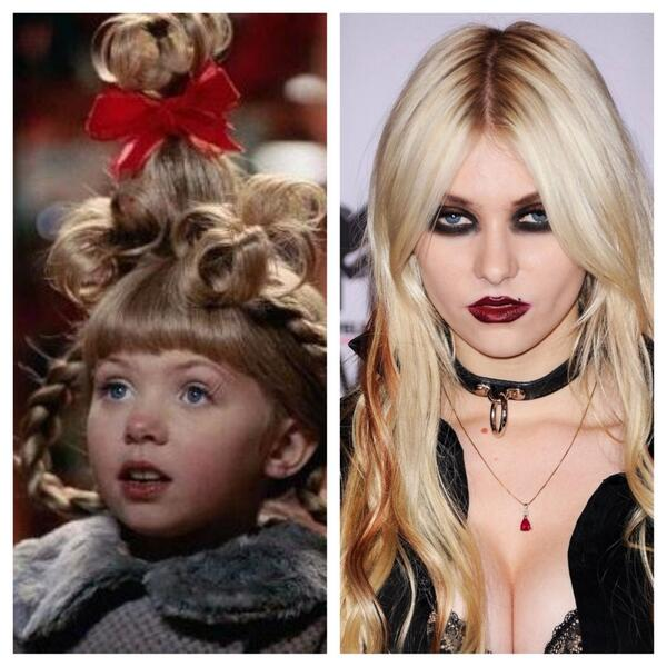 eric fawcett on twitter then and now of taylor momsen who played the adorable cindy lou who in how the grinch stole christmas christmas - Taylor Momsen How The Grinch Stole Christmas