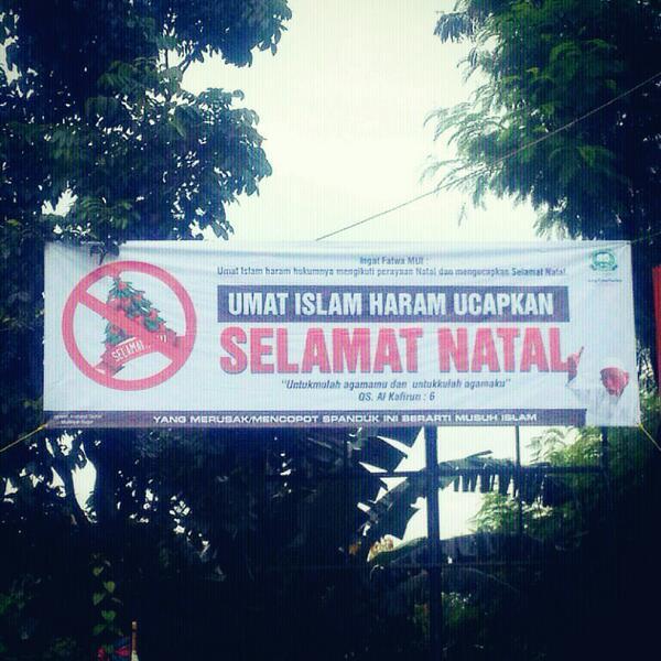 Tentang Hukum Larangan Orang Islam Mengucapkan Selamat Natal - AnekaNews.net
