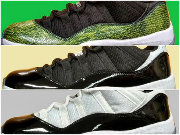 """ sneakerwatchcom  Three Air Jordan 11 Low colorways dropping in summer 2014  http   www.sneakerwatch.com article 022307 air-jordan-11-summer-2014-colorways   ... 252121ff153f"