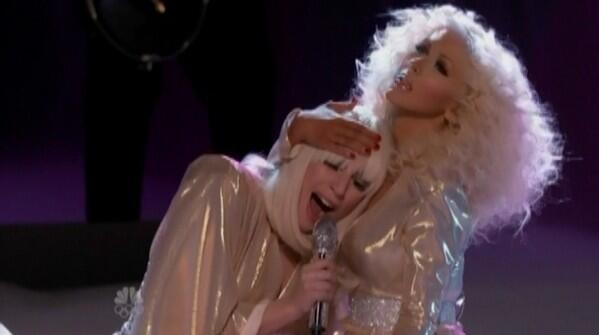 Watch:  Lady Gaga & Christina Aguilera Rock The Voice With Do What U Want