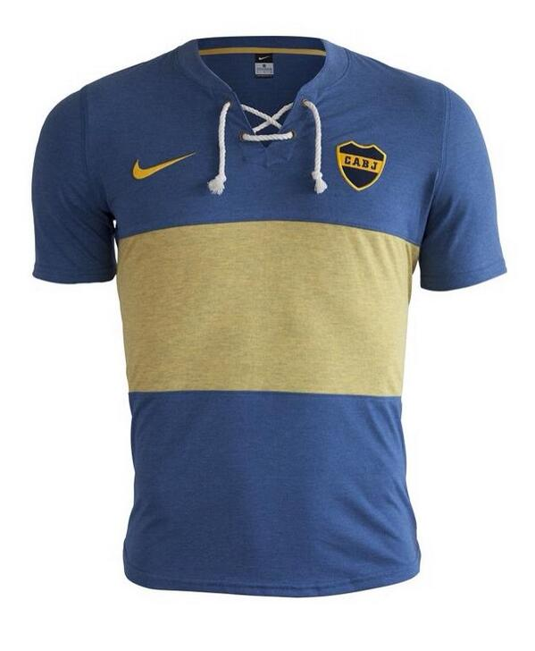 Leaked! Boca Juniors unveil a quality Nike retro style shirt for 2014 [Pictures]