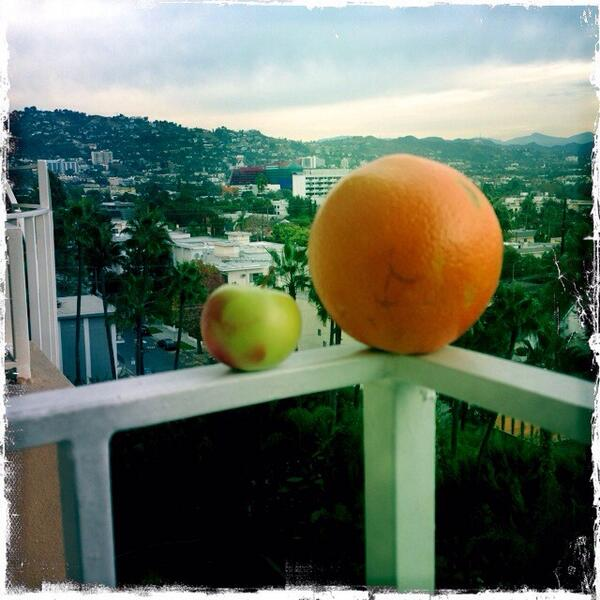 Huge orange normal apple? Tiny apple normal orange?