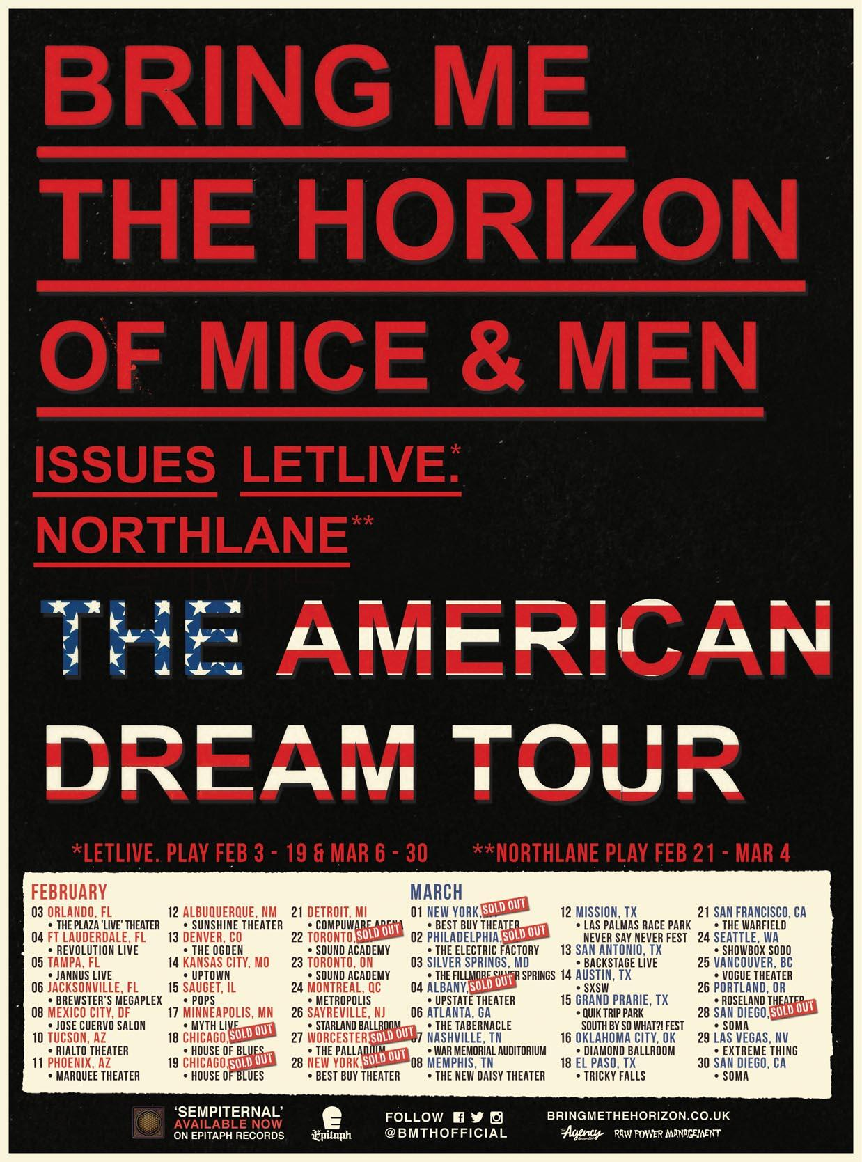 Issues, letlive. added to Bring Me The Horizon, Of Mice & Men tour - Alternative Press