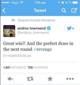 Mug! Tottenhams Andros Townsend looks a fool after tweeting about getting revenge on West Ham