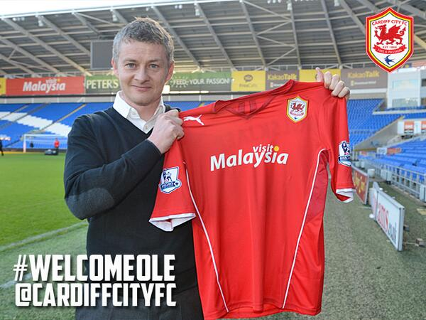 BREAKING: @CardiffCityFC are delighted to confirm the arrival of Ole Gunnar Solskjaer as first team manager. http://t.co/8tisnayWDu