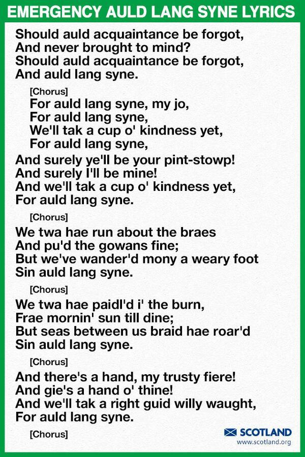Auld Lang Syne - English to English Translation