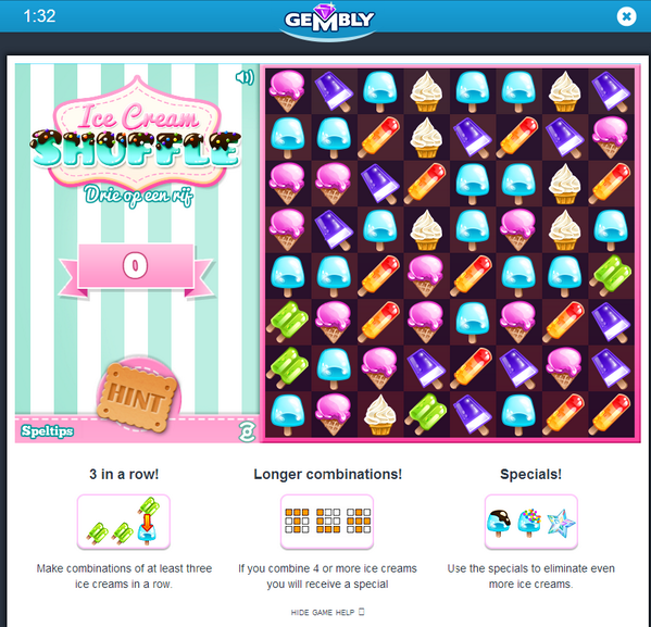Play our newest game: Ice Cream Shuffle  http://t.co/lsAAtxRCsZ  nice for everyone getting tired of crushing candy! http://t.co/NwecXgdAyU