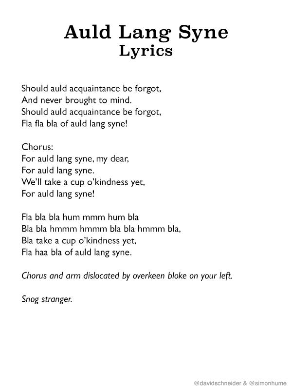 The lyrics to 'Auld Lang Syne' so you don't mumble ... - CNN