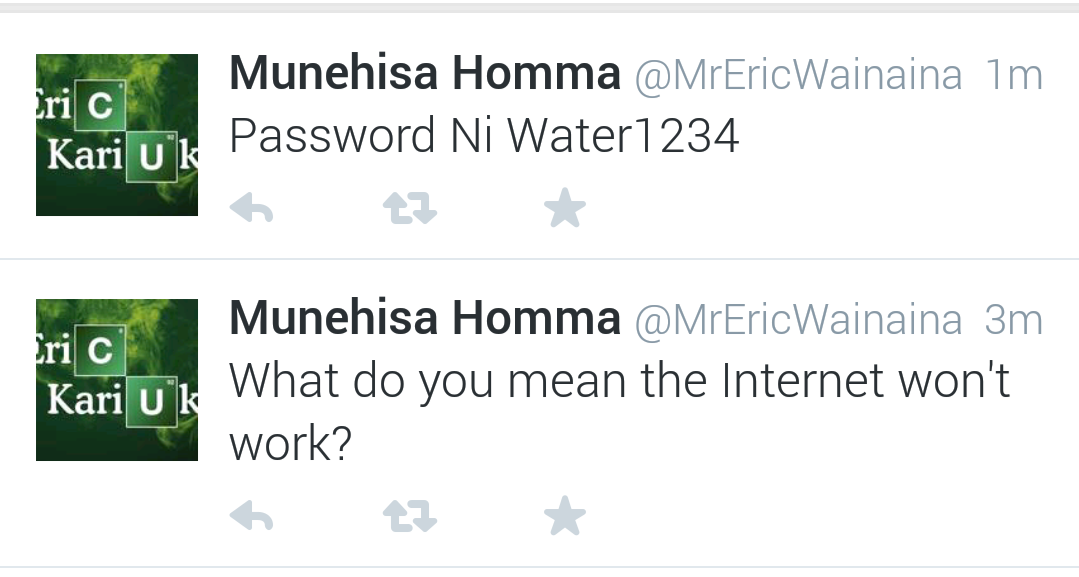 Twitter / echenze: Aye @MrEricWainaina just shout ...