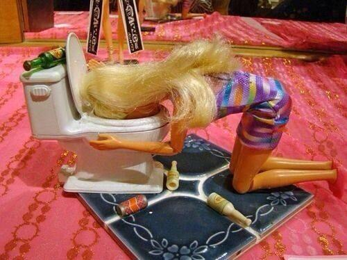 Barbie had a big night #NYE2013 MT @abcnews: we're asking you to share your photos of 'the morning after' #dayafter http://t.co/3vMN9o6mlP
