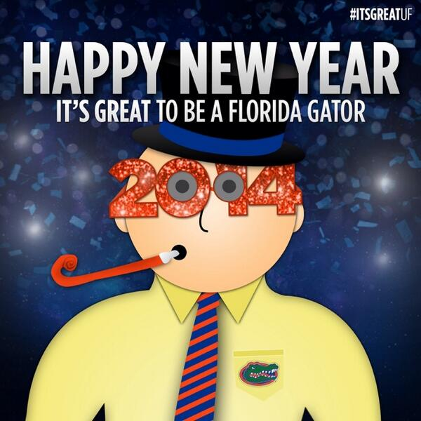 gatorzonenews happy new year gator nation hope 2014 is your best year yet pictwittercomzgelafb53e
