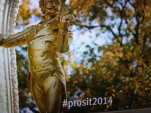 Wie selbstverständlich - Twitter Hashtag #prosit2014 beim Neujahrskonzert @zdf ;-) http://t.co/VIgWwPyppb