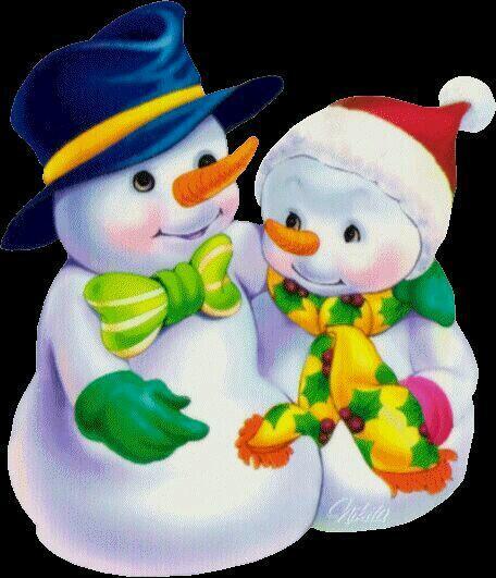 гифки снеговики целуются частности, было