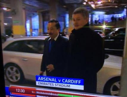 Ole Gunnar Solskjaer arrives at the Emirates with Vincent Tan ahead of Arsenal v Cardiff [Picture & GIF]