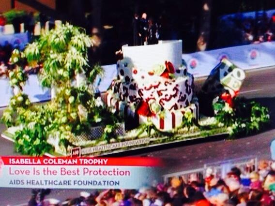 Thank you Aids Healthcare Foundation for celebrating a Gay Wedding during the Tournament of Roses Parade http://t.co/z858m0dbv1