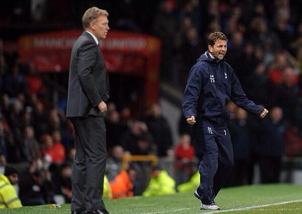 Great photo! RT @AddictedtoSpurs: Tim Sherwood at the final whistle. #THFC http://t.co/psgs5mL64a